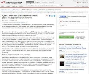A_BEST a sarbatorit Ziua Europeana a Limbilor Straine prin dezbateri si jocuri interactive