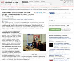 Ascensiunea in mediul de business prin limba germana Impactul proiectelor de training corporate de limba germana