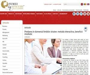 Femei in afaceri interviu Aura Ipate centrul de limbi straine A_best