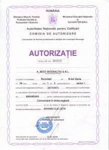 Autorizatie Comunicare in lb engleza