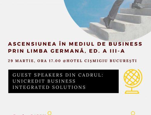 """Conferință marca A_BEST: """"Ascensiunea în mediul de business prin limba germană"""", ediţia a III-a"""