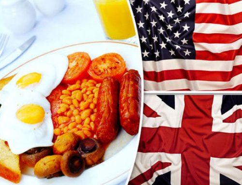 Diferenţe între engleza britanică şi engleza americană referitoare la alimente