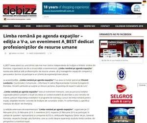 Limba romana pe agenda expatilor editia a V a un eveniment A_BEST dedicat profesionistilor de resurse umane DeBizz